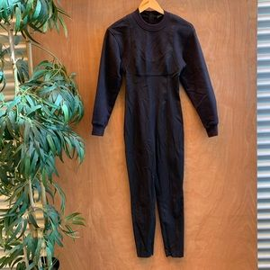 Alexander wang black zip up pant jumpsuit